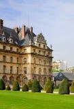 Garden of Hôtel des Invalides, Paris Stock Photos