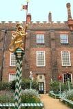 Garden of Hampton Court Palace. Garden with flowers in Hampton Court Palace, London Stock Photo