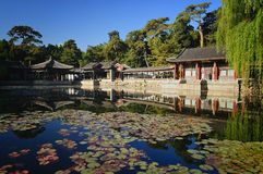 Garden of Harmonious Interests in summer palace. In summer palace, the Garden of Harmonious Interests, with its exquisite design and distinctive layout, is known Stock Photo