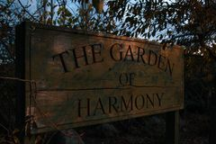 The Garden of Harmony in Methven, South Island, New Zealand royalty free stock photo