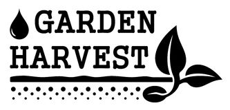 Garden harvest symbol Stock Photos