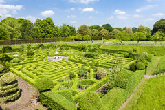 Garden of Hatfield House. Hertfordshire, England Royalty Free Stock Photo