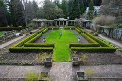 Garden in Hatley castle Stock Photo