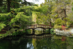 Garden in Hatley castle Royalty Free Stock Images