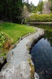 Garden in Hatley castle Stock Photos