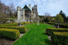 Garden in Hatley castle Stock Image
