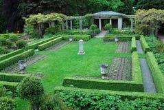 Garden in Hatley castle Royalty Free Stock Photos