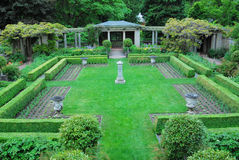 Garden in Hatley castle Royalty Free Stock Photography
