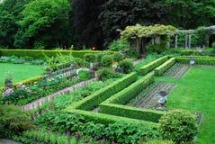 Garden in Hatley castle Stock Image