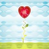 Garden of heart,vector Stock Images
