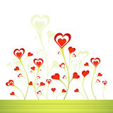 Garden of hearts, vector Royalty Free Stock Photo