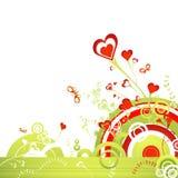 Garden of hearts, vector Stock Photos