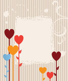 Garden of hearts. vector illustration Stock Photos