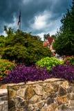 Garden in Helen, Georgia. Stock Photos
