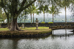 The garden in Hilo, Hawaii Stock Image