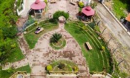 Garden. Hirakud, Sambalpur - Ariel shot of park at Gandhi minar, Hirakud Stock Photos