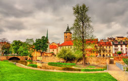 Garden in the historic centre of Pilsen Royalty Free Stock Images