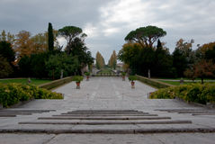 Garden of a historic villa. In the Veneto Royalty Free Stock Photography
