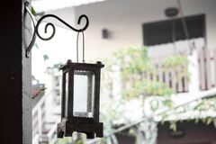 Garden home Lamp Decorate Vintage Royalty Free Stock Photo