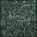 Garden Home Outdoor Traditional Doodle Icons Sketch Hand Made Design Vector stock illustration