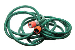 Garden Hose. On White Background stock photography