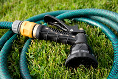 Garden hose head Stock Photo