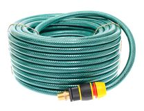 Garden Hose Isolated on White Background Royalty Free Stock Photos