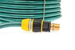 Garden Hose Isolated on White Background Stock Photography