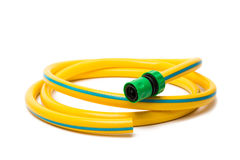 Garden hose isolated. On a white background royalty free stock photo