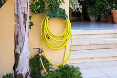 Garden hose-pipe outdoor Royalty Free Stock Photo