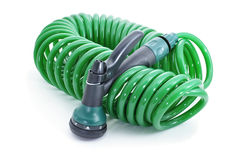 Garden hose with sprayer pistol Stock Photography