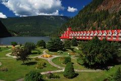 Garden of a hotel Royalty Free Stock Photo
