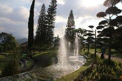 Garden at hotel in Batu Stock Photo