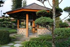 Garden at hotel in Batu Stock Image