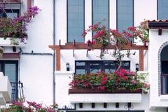 Garden hotel Stock Image