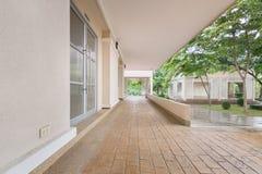 Garden House. Balcony side corridor of the building Stock Photo