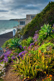 Garden and house on a cliff above the beach in Laguna Beach,  Stock Photography