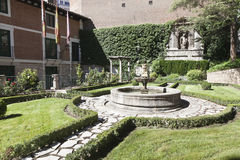 Garden of the house of Miguel de Cervantes Stock Image