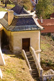 Garden house in Pragues. Seen from above, a garden house next to Pragues' castle Royalty Free Stock Photos