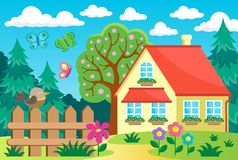 Garden and house theme background 1 Stock Photography