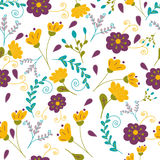Garden hues floral pattern Stock Images
