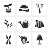 Garden icon collection Royalty Free Stock Photography