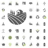 Garden icon. Eco and Alternative Energy vector icon set. Energy source electricity power resource set vector. Garden icon. Eco and Alternative Energy vector Stock Images
