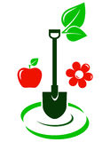 Garden icon with fruit and flower Stock Photo