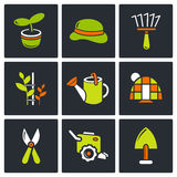 Garden icon set Royalty Free Stock Images