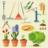 Garden icon set Royalty Free Stock Images