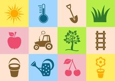 Garden icons Stock Photo