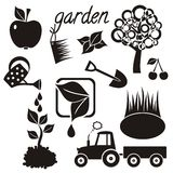 Garden icons Royalty Free Stock Images