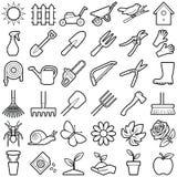 Garden icons Royalty Free Stock Photos