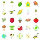 Garden icons set, cartoon style. Garden icons set. Cartoon set of 25 garden icons for web isolated on white background Royalty Free Stock Photo